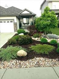rock yard landscaping front garden