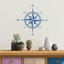 Compass Rose Wall Decal World Globe Map Art Decor Direction Nursery Sticker K479 Ebay