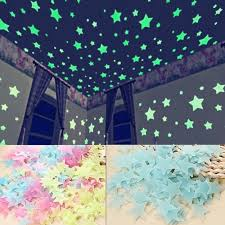 Buy 100pcs Set 3colors Glow Wall Stickers Decal Baby Kids Bedroom Home Decor Color Stars Luminous Fluorescent 3cm From Part And Supply Shop
