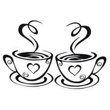 New Arrival Beautiful Design Coffee Cups Cafe Tea Wall Stickers Art Vinyl Decal Kitchen Restaurant Pub Decor Wallcorners Art Canvas