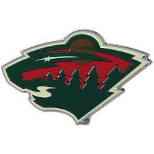 Minnesota Wild Color Emblem 3 Car Team Decal