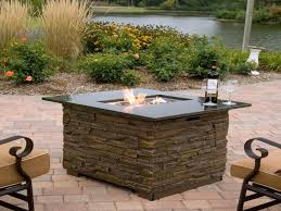 wood fire pit stone fire pit patio