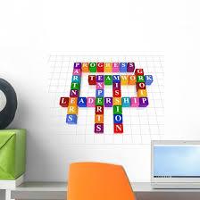 Crossword Leadership Wall Decal Wallmonkeys Com
