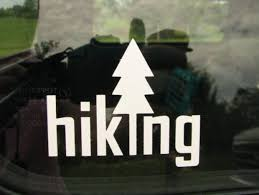 Hiking Vinyl Graphic Car Window Decal Hiking Hike Car Bumper Sticker Hiking Sticker Hiking Decal H Bumper Stickers Car Bumper Stickers Vinyl Car Stickers