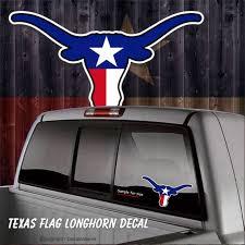 Texas Flag Longhorn Decal 5x 9 5 Car Window Decal Etsy
