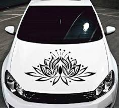 Amazon Com In Style Decals Vehicle Auto Car Decor Vinyl Decal Art Sticker Beautiful Lotus Flower Removable Design For Hood 1028 Automotive