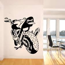 Boy Room Motorbike Wall Decal Vinyl Cool Removable Racing Car Living Room Office Decoration Large Motorcycle Sport Car W710 Wall Stickers Aliexpress