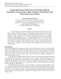 pdf leadership frame preference of