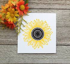 Sunflower Decal Cut In Vinyl Sticker For Car Or Laptop Home Garden Children S Bedroom Boy Decor Decals Stickers Vinyl Art