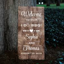 Personalized Welcome Wedding Sign Decal I Do Bbq Rustic Vinyl Written