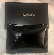 yves saint lau cosmetic bag pouch