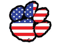 Clemson Tigers Flag Vinyl Die Cut Decal Sticker 4 Sizes