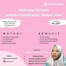 makeup simple untuk pemakaian sehari