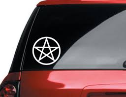 Pentagram Vinyl Car Decal Pagan Wiccan Sticker Etsy