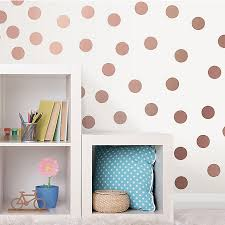 Wallpops Dots Vinyl Wall Decal In Metallic Rose Gold Bed Bath Beyond