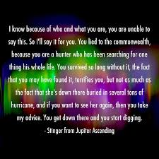 jupiterascending quotes stinger apini caine stinger s advice
