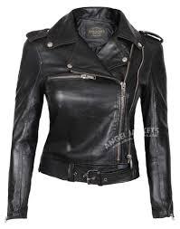 asymmetrical lambskin leather jacket