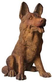 german shepherd garden animal statue