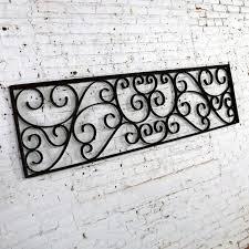 Antique Swirled Design Wrought Iron Railing Piece Trellis Or Fence Section Chairish