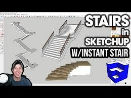 Easy Stairs In Sketchup With Instant Stair Youtube