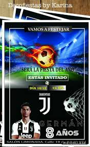 Tarjeta Cumpleano Invitacion Futbol Juventus X 10 120 00 En