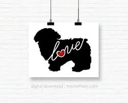 Instant Download Maltipoo Silhouette By Traciwithanidesigns Art Design Instant Download Silhouette