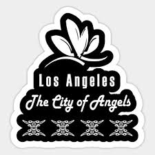 Amazon Com Los Angeles The City Of Angels Sticker Graphic Car Vinyl Sticker Decal Bumper Sticker For Auto Cars Trucks Toys Games