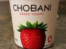 strawberry blended non fat greek yogurt