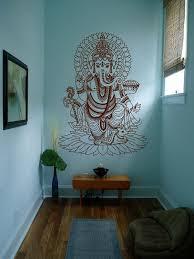Amazon Com Ik430 Wall Decal Sticker Room Decor Wall Art Mural Indian God Om Elephant Hindu Success Bu Yoga Studio Decor Meditation Room Decor Living Room Yoga