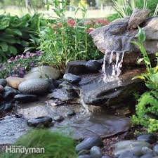 build a low maintenance water feature