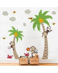 Sweet Savings On 3 Monkeys With Palm Tree Wall Decal Zoomie Kids Color White