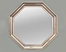 art deco metallic octagonal wall mirror