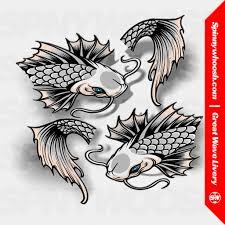Koi Fish Sakura Livery Spinnywhoosh Graphics