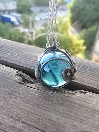 blue glass tiffany pendant statement