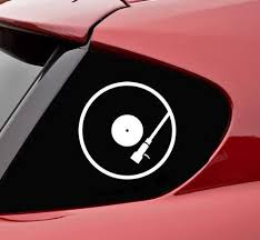 Amazon Com Slap Art Dj Turn Table Car Vehicle Funny Vinyl Decal Sticker Automotive