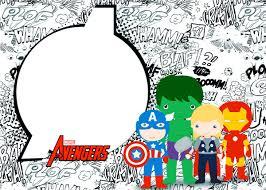Avengers Kids Free Printable Kit 056 Jpg 1200 857 Tarjetas De