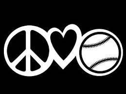 Amazon Com Peace Love Baseball Vinyl Decal Sticker Cars Trucks Vans Walls Laptops Cups White 7 5 X 3 3 Inch Kcd1609 Computers Accessories