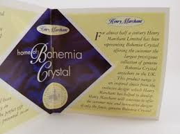 bohemia crystal by henry marchant 2nd