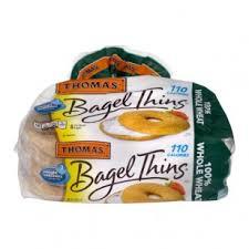 thomas bagel thins 100 whole wheat