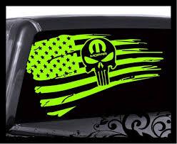 Inspired Punisher Skill Distressed Flag Deca Vinyl Sticker Etsy