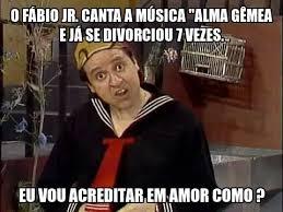 """O Fábio Júnior. canta a musica """"alma gêmea e…"""
