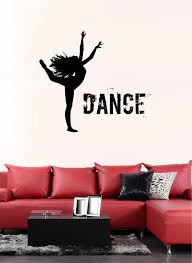 Ik2218 Wall Decal Sticker Silhouette Of A Girl Dancing Hall Bedroom Stickersforlife