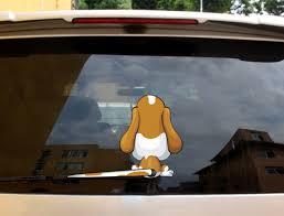 3d Stickers Puppy Dog Cartoon Moving Tail Rear Window Wiper Reflective Decals Ebay