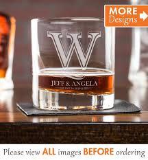 monogrammed whiskey glasses custom