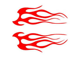 Flame Decal Etsy