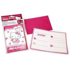 Invitacion Cumpleanos Hello Kitty