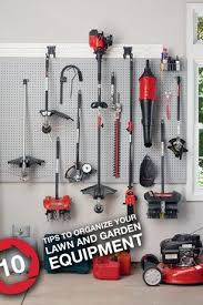 organize your lawn and garden equipment