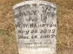 """Mary Ann """"Polly"""" Bowman Hampton (1839-1907) - Find A Grave Memorial"""