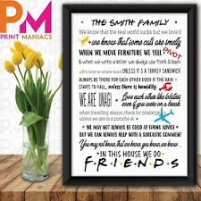 personalised family friends quotes birthday gift present wall art