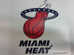 Miami Heat Colored Window Die Cut Decal Wincraft Sticker 8x8 Nba Sports City Hats
